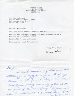 MIKE MCCORMACK - AUTOGRAPH LETTER SIGNED