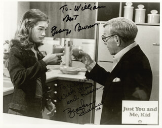 JUST YOU AND ME KID MOVIE CAST - AUTOGRAPHED INSCRIBED PHOTOGRAPH CO-SIGNED BY: GEORGE BURNS, BROOKE SHIELDS