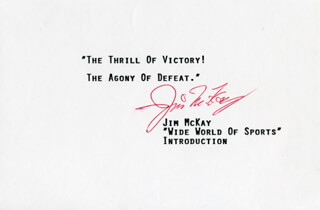 Autographs: JIM McKAY - TYPED QUOTATION SIGNED