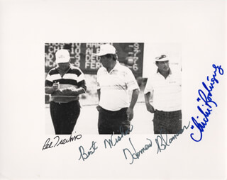 LEE TREVINO - AUTOGRAPHED SIGNED PHOTOGRAPH CO-SIGNED BY: CHI CHI (JUAN) RODRIGUEZ, HOMERO BLANCO