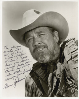 BEN JOHNSON - AUTOGRAPHED INSCRIBED PHOTOGRAPH