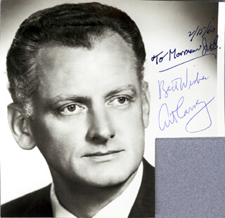 ART CARNEY - AUTOGRAPHED SIGNED PHOTOGRAPH 02/15/1960