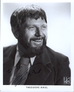 THEODORE BIKEL - INSCRIBED PRINTED PHOTOGRAPH SIGNED IN INK