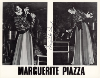MARGUERITE PIAZZA - PRINTED PHOTOGRAPH SIGNED IN INK