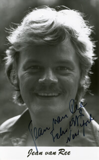 JEAN VAN REE - AUTOGRAPHED SIGNED PHOTOGRAPH 1978