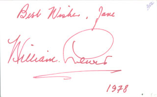 WILLIAM LEWIS - AUTOGRAPH NOTE ON PRINTED PHOTOGRAPH SIGNED IN INK 1978