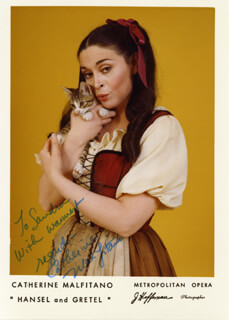 CATHERINE MALFITANO - AUTOGRAPHED INSCRIBED PHOTOGRAPH