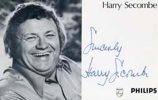 HARRY SECOMBE - AUTOGRAPHED SIGNED PHOTOGRAPH