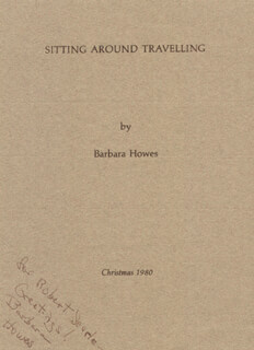 Autographs: BARBARA HOWES - INSCRIBED POEM SIGNED