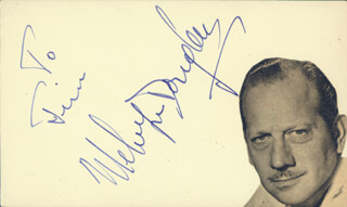 MELVYN DOUGLAS - INSCRIBED SIGNATURE