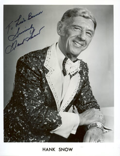 HANK SINGING RANGER SNOW - AUTOGRAPHED INSCRIBED PHOTOGRAPH