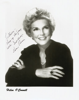 HELEN O'CONNELL - AUTOGRAPHED INSCRIBED PHOTOGRAPH