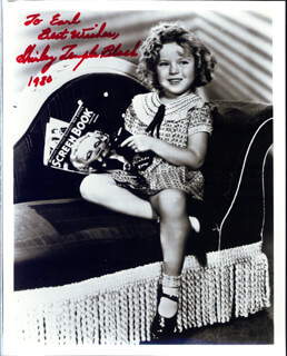 SHIRLEY TEMPLE - AUTOGRAPHED INSCRIBED PHOTOGRAPH 1980