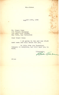 ELIA KAZAN - TYPED LETTER SIGNED 08/13/1964