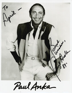 Autographs: PAUL ANKA - INSCRIBED PHOTOGRAPH SIGNED 1984