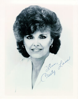 CRISTY LANE - AUTOGRAPHED SIGNED PHOTOGRAPH