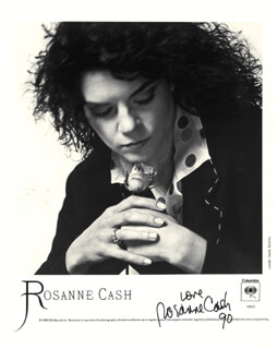 ROSANNE CASH - PRINTED PHOTOGRAPH SIGNED IN INK 1990