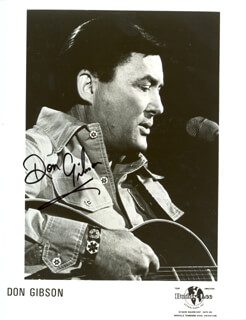 DON GIBSON - PRINTED PHOTOGRAPH SIGNED IN INK
