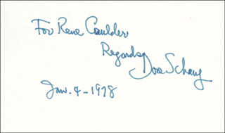 DORE SCHARY - AUTOGRAPH NOTE SIGNED 01/04/1978