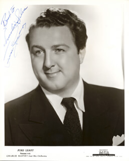 FORD LEARY - AUTOGRAPHED INSCRIBED PHOTOGRAPH