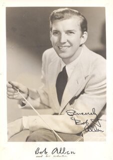 Autographs: BOB ALLEN - PHOTOGRAPH SIGNED