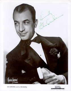 GUS ARNHEIM - AUTOGRAPHED SIGNED PHOTOGRAPH