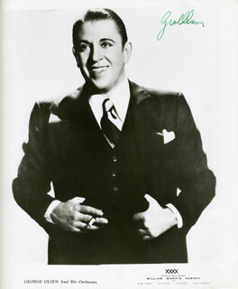 GEORGE OLSEN - AUTOGRAPHED SIGNED PHOTOGRAPH