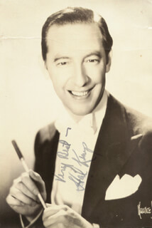 HAL KEMP - AUTOGRAPHED SIGNED PHOTOGRAPH