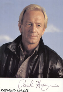 PAUL HOGAN - AUTOGRAPHED SIGNED PHOTOGRAPH