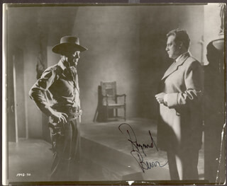 RAYMOND BURR - AUTOGRAPHED SIGNED PHOTOGRAPH