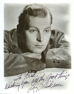 LEIF ERICKSON - AUTOGRAPHED SIGNED PHOTOGRAPH