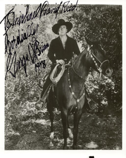 GEORGE O'BRIEN - AUTOGRAPHED INSCRIBED PHOTOGRAPH 1978