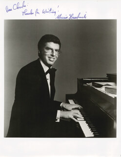 Autographs: MARVIN HAMLISCH - INSCRIBED PHOTOGRAPH SIGNED