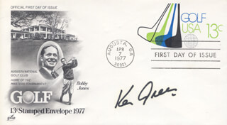 KEN GREEN - FIRST DAY COVER SIGNED