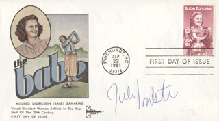 JULI INKSTER - FIRST DAY COVER SIGNED