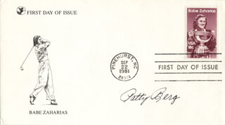 Autographs: PATTY BERG - FIRST DAY COVER SIGNED
