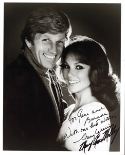 GARY COLLINS - AUTOGRAPHED INSCRIBED PHOTOGRAPH CO-SIGNED BY: MARY ANN MOBLEY