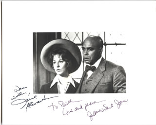 GREAT WHITE HOPE MOVIE CAST - AUTOGRAPHED INSCRIBED PHOTOGRAPH CO-SIGNED BY: JAMES EARL JONES, JANE ALEXANDER