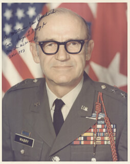MAJOR GENERAL GEORGE L. MABRY JR. - AUTOGRAPHED SIGNED PHOTOGRAPH 11/03/1983