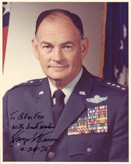 Autographs: GENERAL GEORGE S. BROWN - INSCRIBED PHOTOGRAPH SIGNED 04/28/1975