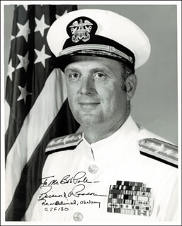 ADMIRAL RICHARD A. PADDOCK - AUTOGRAPHED INSCRIBED PHOTOGRAPH