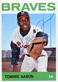 TOMMIE AARON - TRADING/SPORTS CARD SIGNED  - HFSID 20406