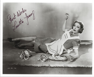 LORETTA YOUNG - AUTOGRAPHED SIGNED PHOTOGRAPH