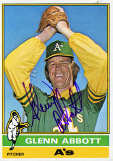 Autographs: GLENN ABBOTT - TRADING/SPORTS CARD SIGNED