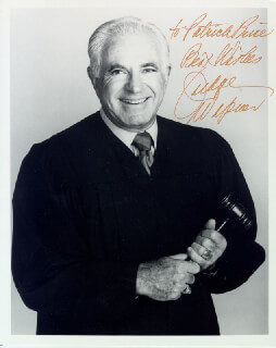 JUDGE JOSEPH WAPNER - AUTOGRAPHED INSCRIBED PHOTOGRAPH