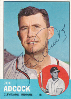 JOE ADCOCK - TRADING/SPORTS CARD SIGNED