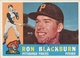 RON BLACKBURN - TRADING/SPORTS CARD SIGNED