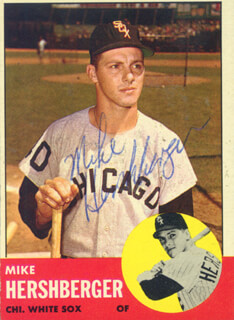 MIKE HERSHBERGER - TRADING/SPORTS CARD SIGNED