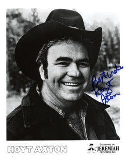 HOYT AXTON - PRINTED PHOTOGRAPH SIGNED IN INK