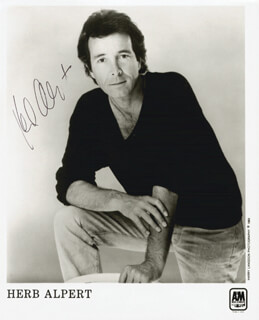 HERB ALPERT - PRINTED PHOTOGRAPH SIGNED IN INK